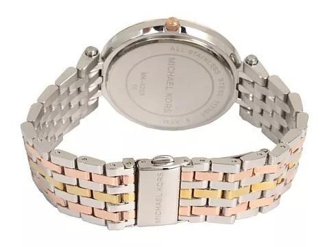 92362162c06a8 Relógio Michael Kors 3203 Prata Rose Dourado Top Promocional - R ...