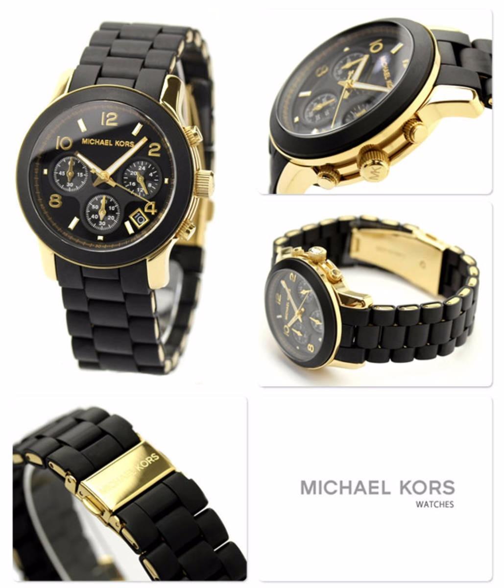 96b58434b42 Carregando zoom... michael kors relógio · relógio michael kors mk5191 preto  dourado caixa manual