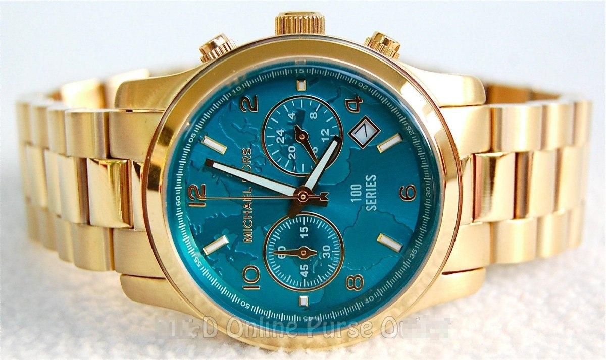 5462977c727 Relógio Michael Kors Mk5815 Dourado Turquesa Frete Grátis. - R  366 ...