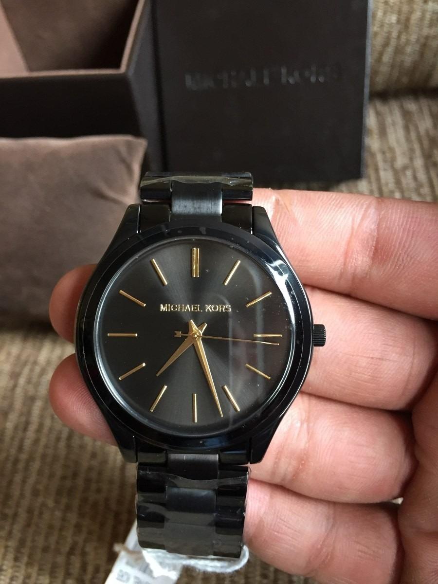 Relógio Original Michael Kors Mk3221 Preto Slim Fin Original - R ... a4034347cb