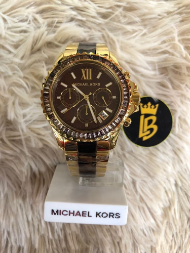 4b6f6237adc0c relógio michael kors mk5873 misto tartaruga original+ caixa relógio michael  kors