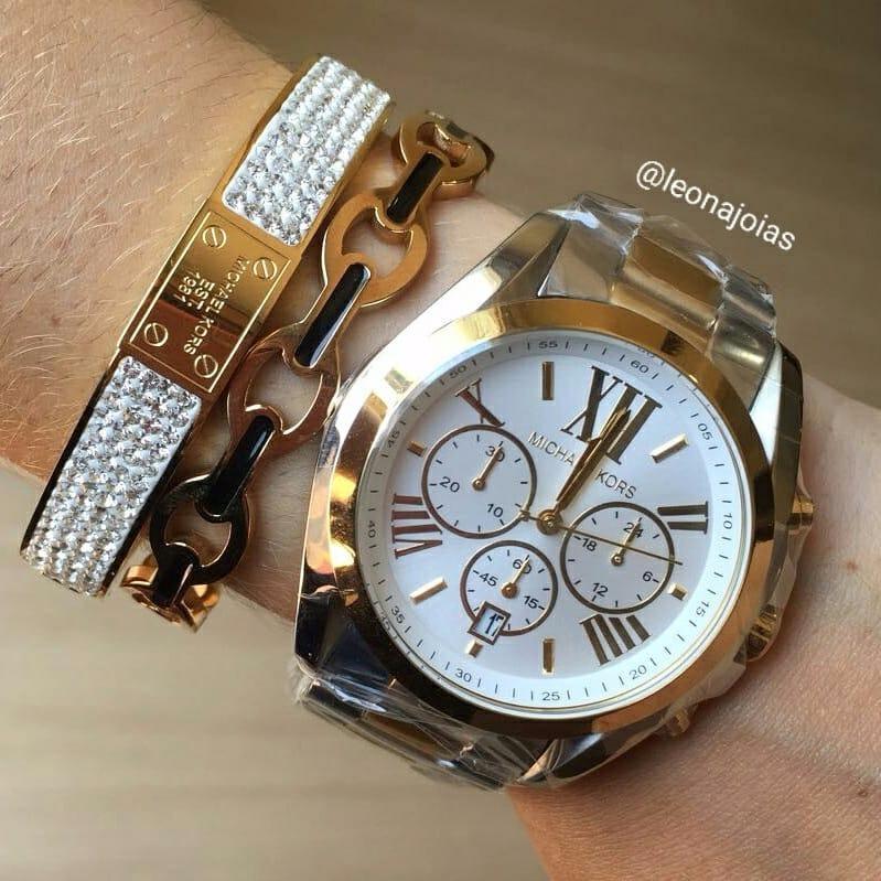 307610def2e56 Relógio Michael Kors Bradshaw Mk 5627 - R  999,00 em Mercado Livre