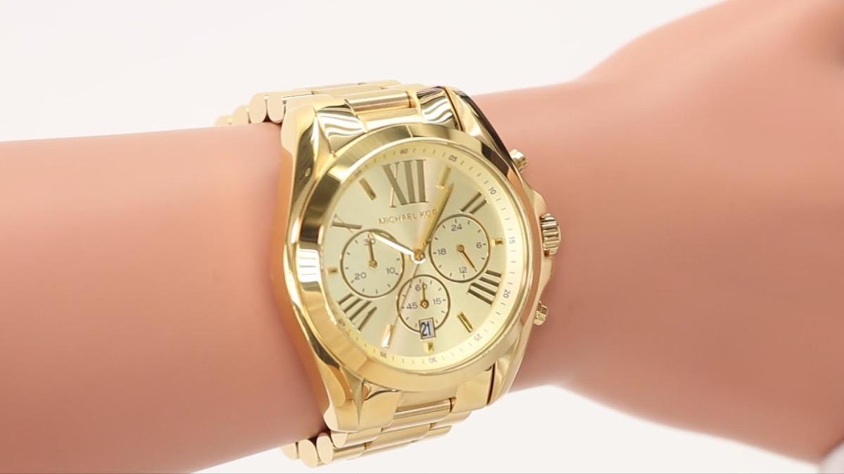 a013ec001dfcd Relógio Michael Kors Mk5605 Ouro Dourado Original Classico - R  259 ...