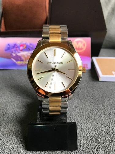 Relógio Michael Kors Mk3198 Prata Original Completo C  Caixa - R  489,99 em  Mercado Livre 7db351a1c7
