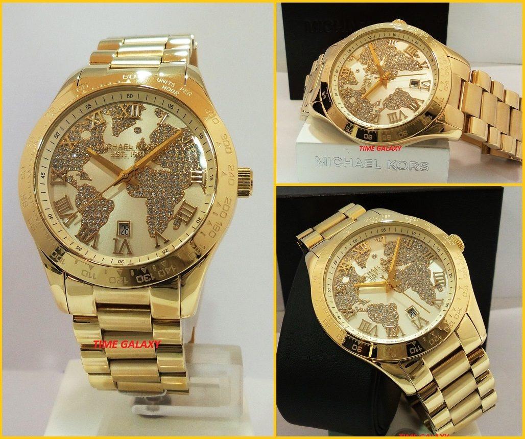 57b0b8138eb relógio michael kors mk5959 layton dourado importado eua · relógio michael  kors. Carregando zoom.