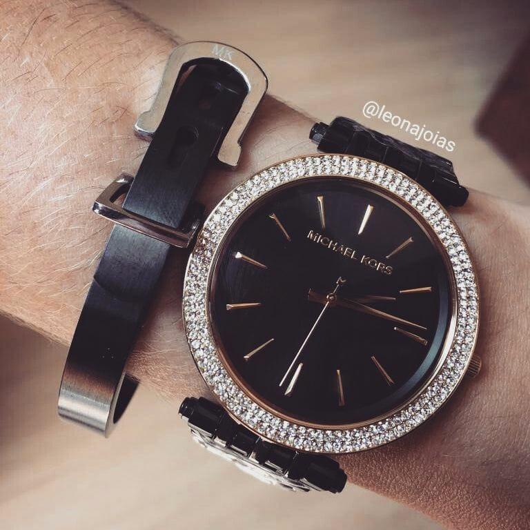 Relógio Michael Kors Darci Black Mk3322 - R  1.099,00 em Mercado Livre bd8b8728c1