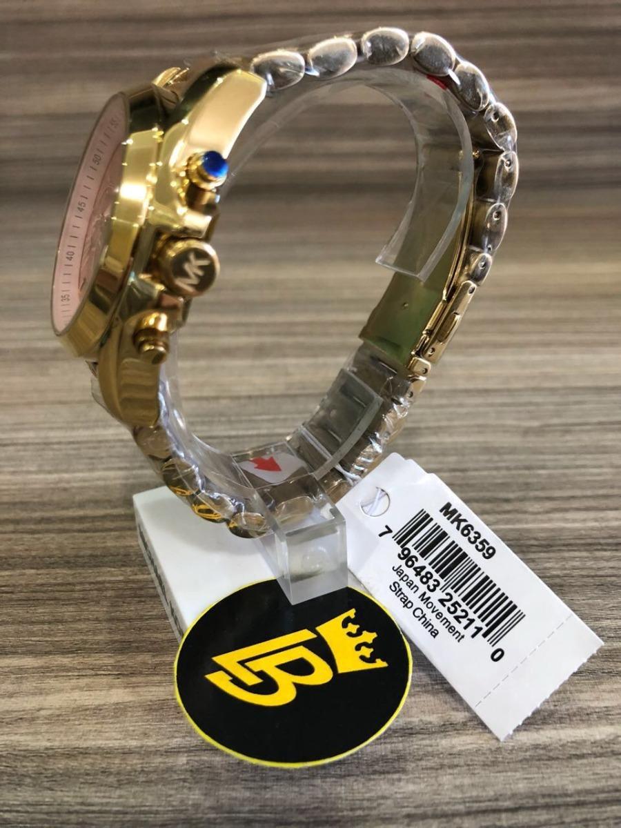 3c37cfc2bcbca Relógio Michael Kors Mk6359 Original Ouro Com Rose Gold - R  849