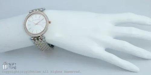 1c2f5d4f46656 relógio michael kors 3203 prata rose dourado top com caixa · relógio  michael kors · michael kors relógio. Carregando zoom.