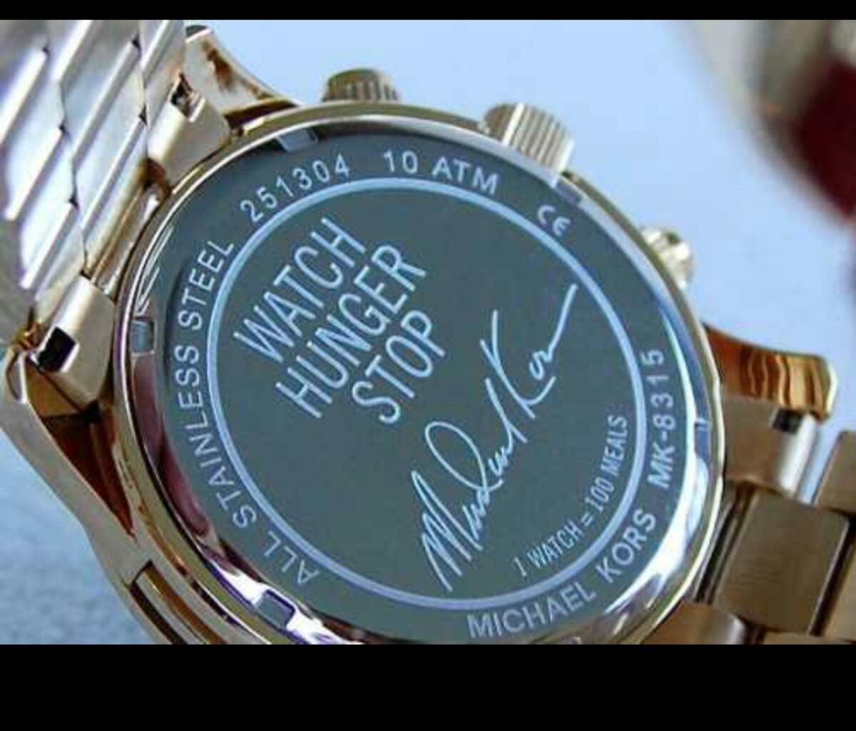 fc742e8a231 Relógio Michael Kors Mk8315 Dourado Original Mapa Mundi - R  660