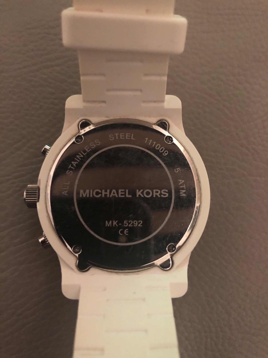b096a2e4c32db Relógio Michael Kors Original Branco - Modelo Mk5292 - R  315,00 em ...