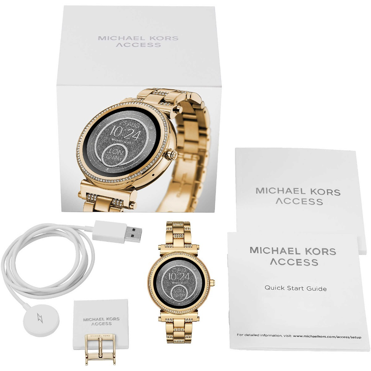 de89e55d7 Relógio Smartwatch Michael Kors Gold Mkt5023 Envio Imediato - R ...
