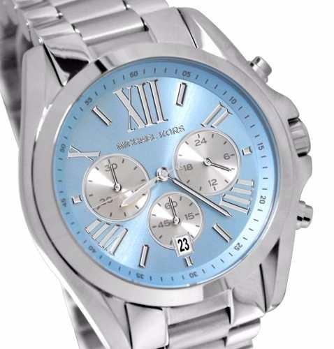 9ffd8a24515d4 Relogio Michael Kors Mk6099 Azul Prata Mega Oferta - R  275,00 em Mercado  Livre