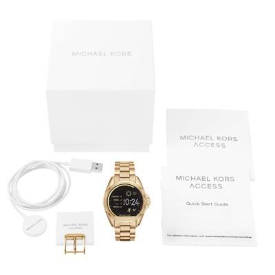 b170536b0314c Relógio Michael Kors Access Smart Watch Mkt 5001 Gold + Nota - R ...