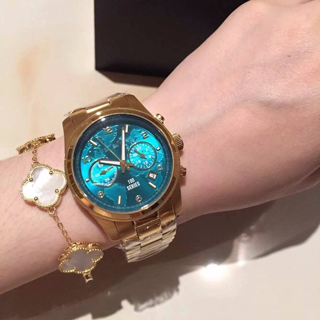 5c926678560 Relógio Michael Kors Azul Turquesa Mk8315 - R  1.250