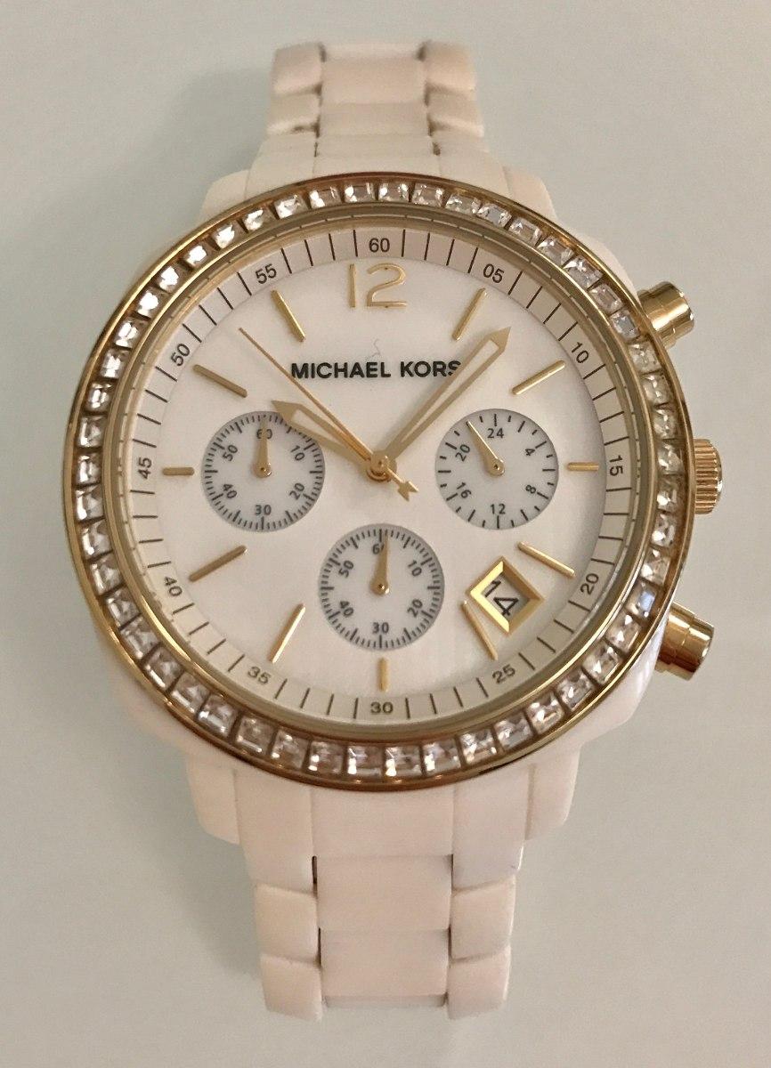 8084d3664 relógio michael kors branco com cristais mk-5187 - feminino. Carregando  zoom.
