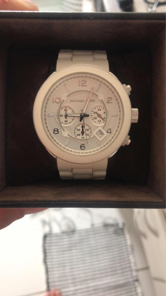 776e40c5e Relógio Michael Kors Branco Mk 8108 - R$ 480,00 em Mercado Livre