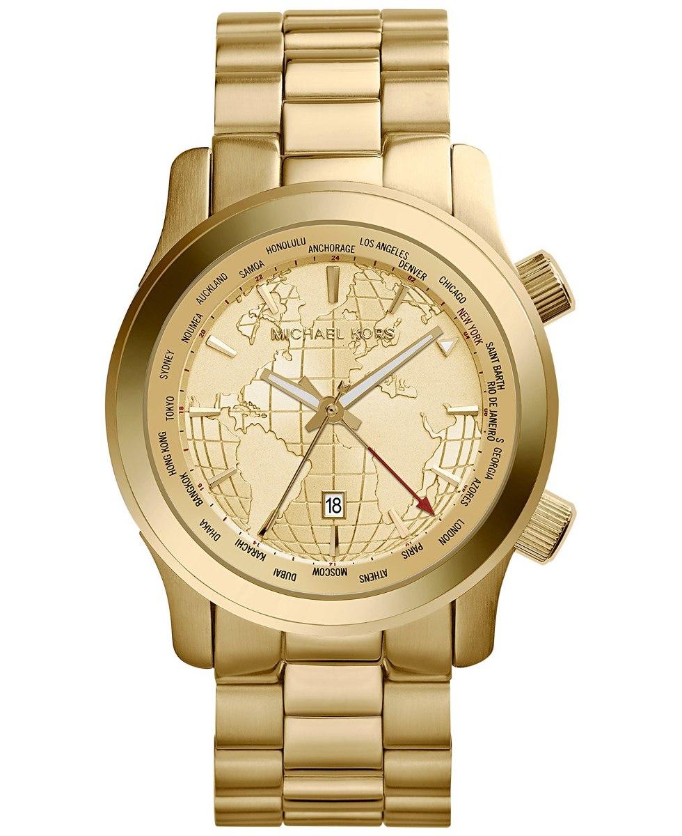 503e89050e9 relógio michael kors dourado mk5960 original grande mapa. Carregando zoom.