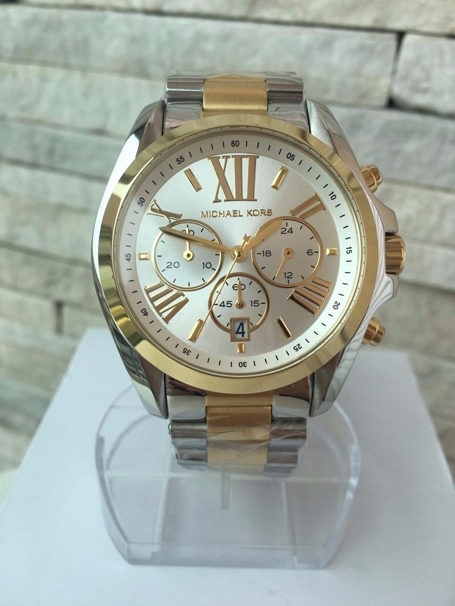 4390b389935 Relógio Michael Kors Feminino Original Mk5627 Misto Dourado. - R ...