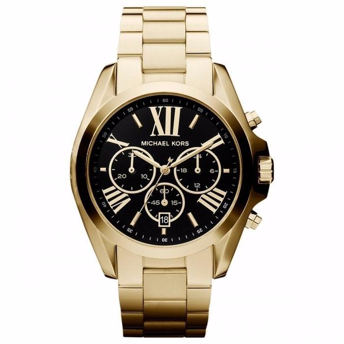 3f28acad2a7ca Relógio Michael Kors Feminino Bradshaw Mk5739 4pn Dourado - R  1.659 ...