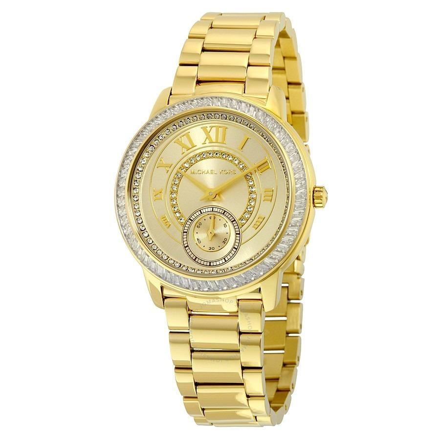 820daf9cb4e92 Relógio Michael Kors Feminino Mk6287 4dn Dourado 41mm - R  1.599,99 ...