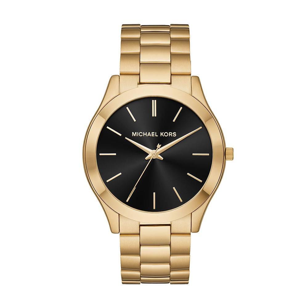 fea9a6030f3da relógio michael kors feminino slim runway dourado mk8621. Carregando zoom.