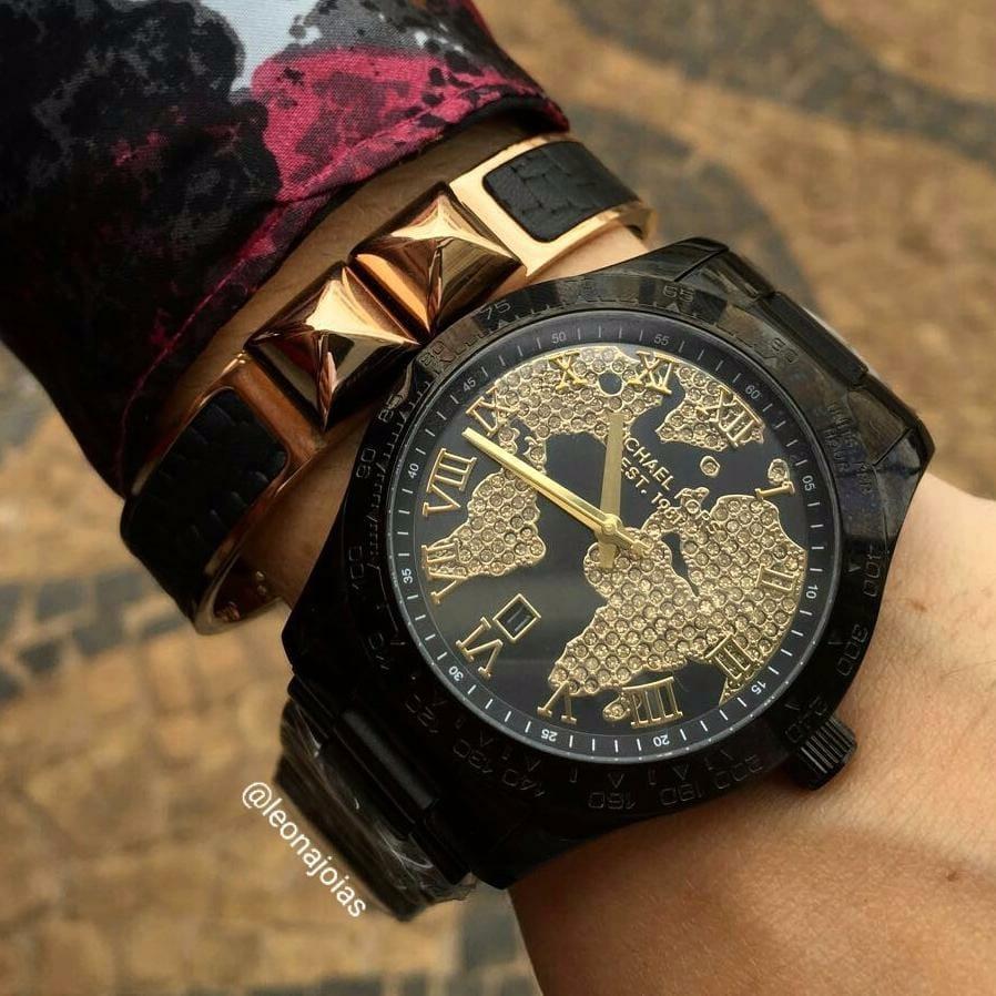 ba65839a25b30 Relógio Michael Kors Layton Mk6091 - R  1.099,00 em Mercado Livre