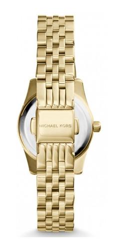 relógio michael kors lexington dourado mk3270
