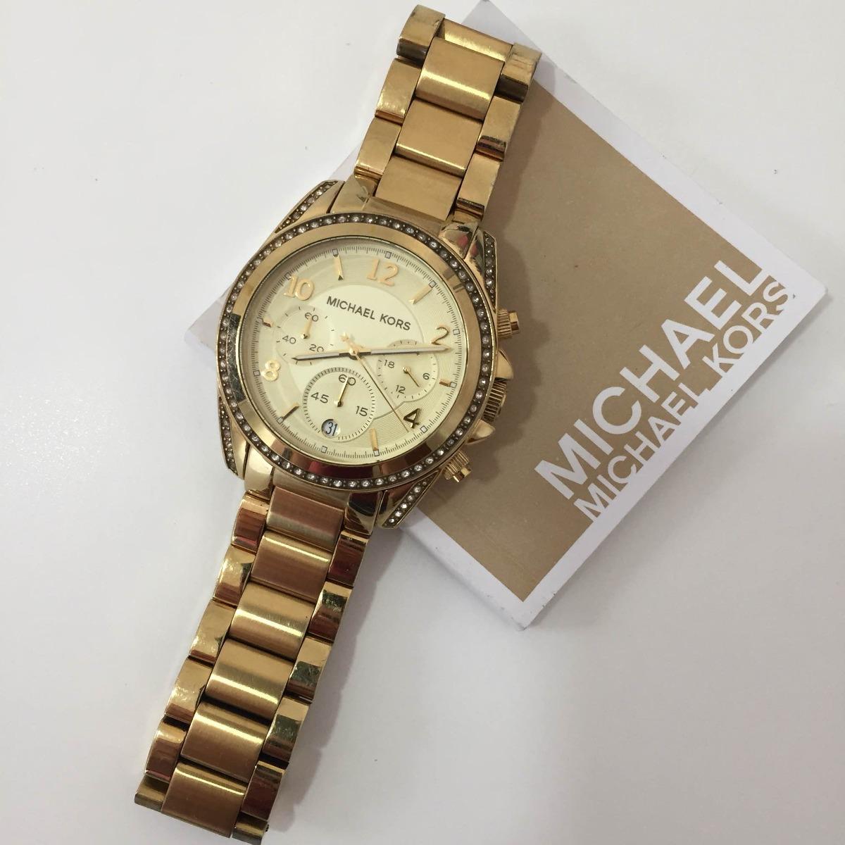 d739cabb6bf relógio michael kors mk 5166 dourado. Carregando zoom.