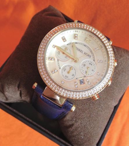 relógio michael kors mk2280 pulseira de couro original