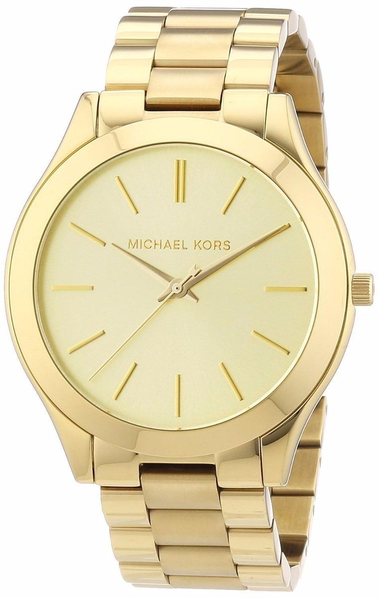 relógio michael kors mk3179 slim banhado ouro caixa original. Carregando  zoom. b667765e8b