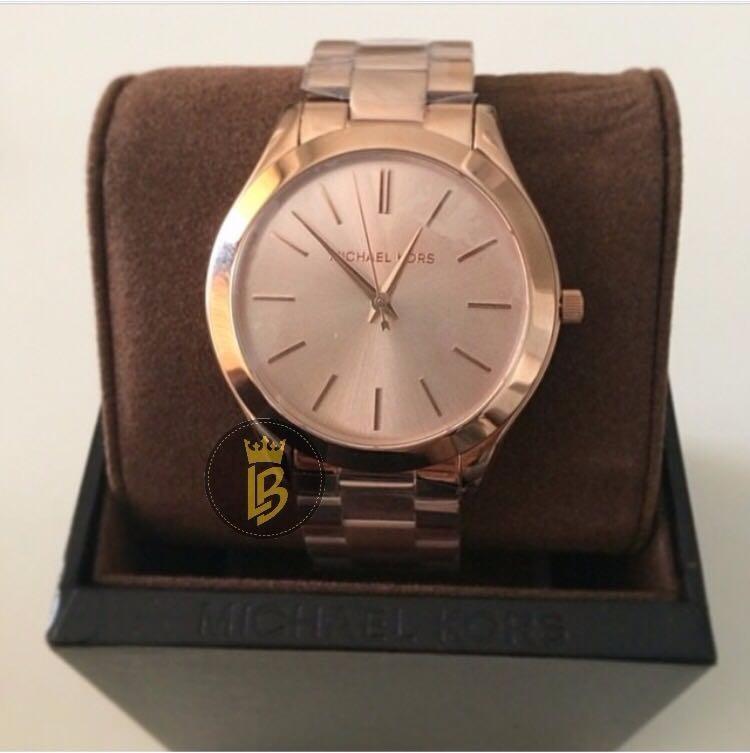 fa204c1f2ab Relógio Michael Kors Mk3197 Slim Rose 100%original - R  690