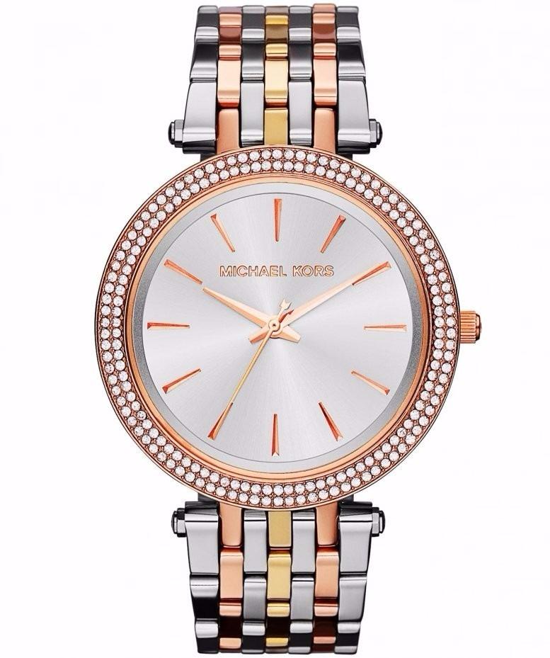 Relógio Michael Kors Mk3203 Prata Rose Dourado - R  499,00 em ... ce4e1e09a3