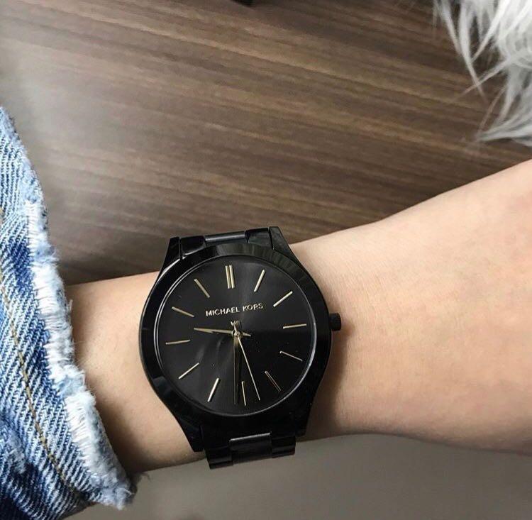 Relógio Michael Kors Mk3221 Midsize  preto  - R  789,90 em Mercado Livre c082f3fc7b