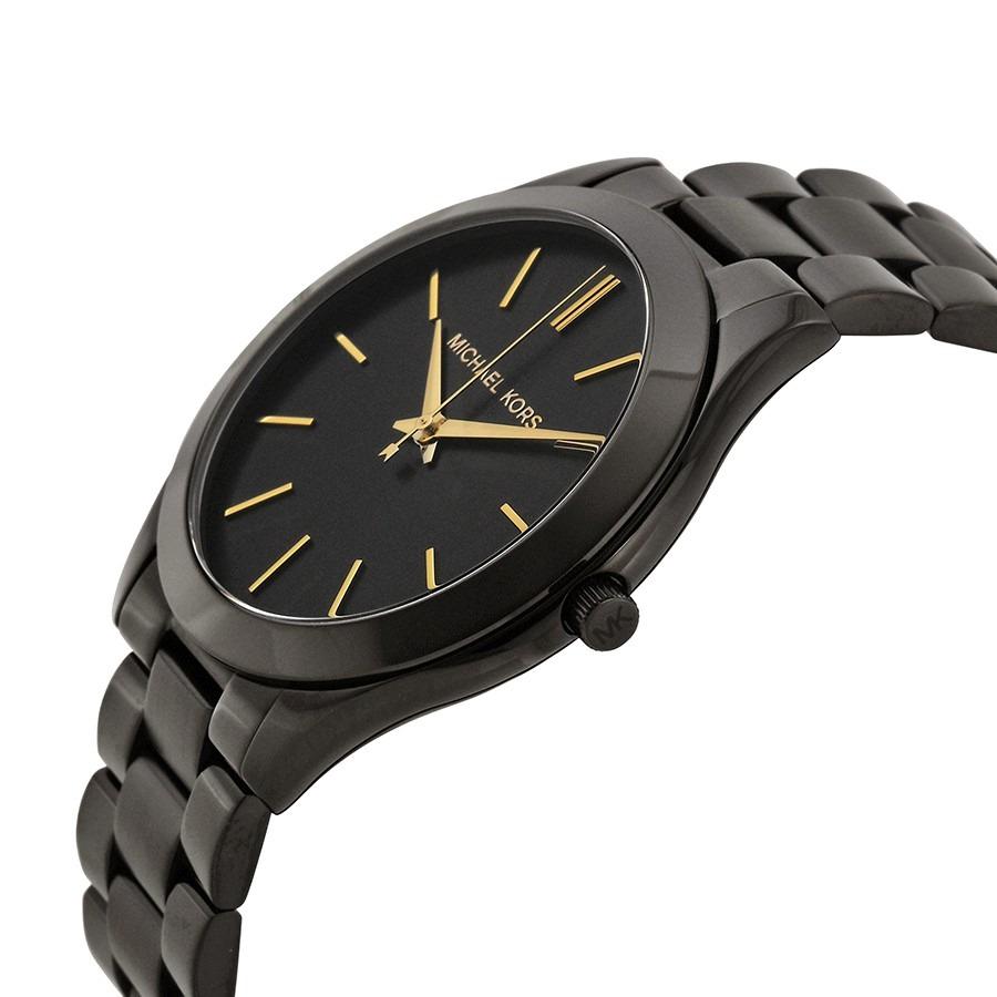relógio michael kors mk3221 preto fino ouro original top. Carregando zoom. 96045e03da