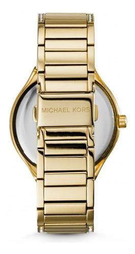relógio michael kors mk3312 orig anal gold swarovsk