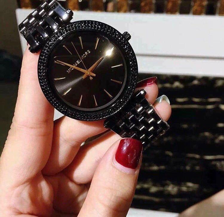 Relógio Michael Kors Mk3337 Darci  preto  - R  750,00 em Mercado Livre 8fd56b3099