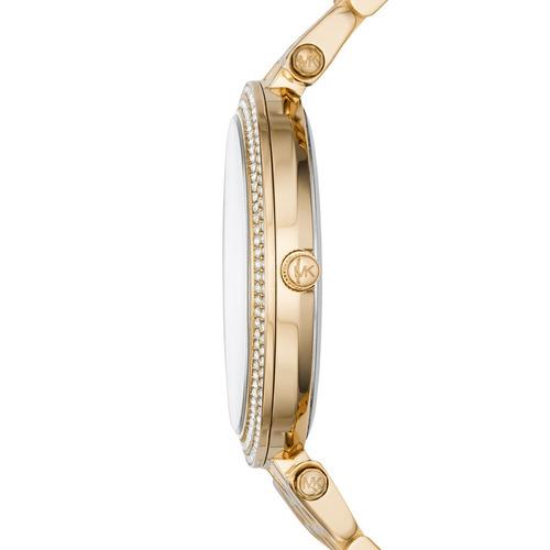relógio michael kors mk3398 orig anal gold swarovski