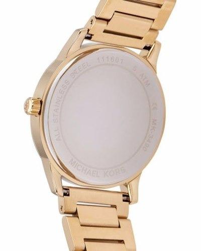 e9d286d7a3b67 Relógio Michael Kors Mk3490 Hartman Original Dourado Banhado - R ...