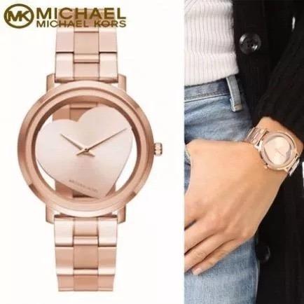 9f0ccb326 Relogio Michael Kors Mk3622 Jaryn Coração Rose Original - R$ 899,00 ...