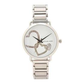 Relógio Michael Kors Mk3823 Portia Orig Anal Silver Swarovsk