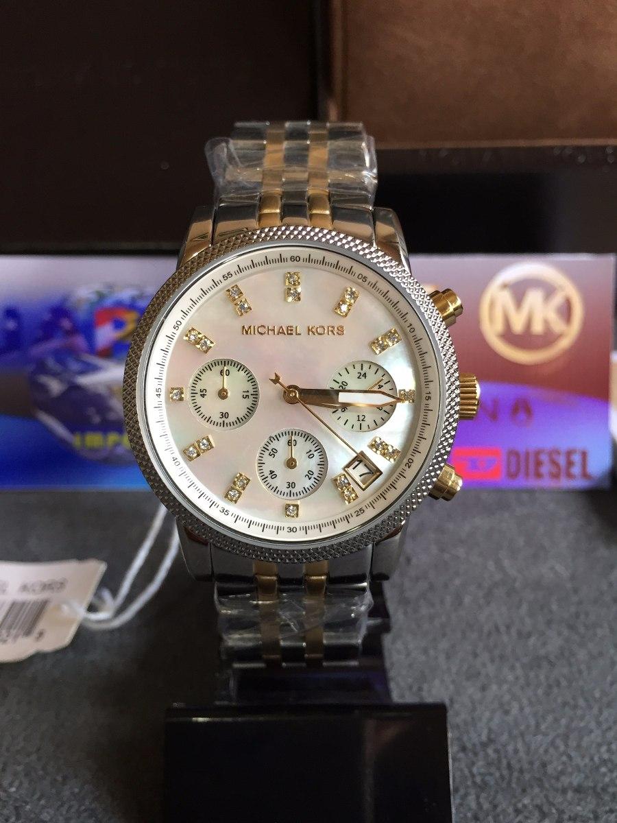 8cce6e53519 relogio michael kors mk5057 prata c  cristais original lindo. Carregando  zoom.