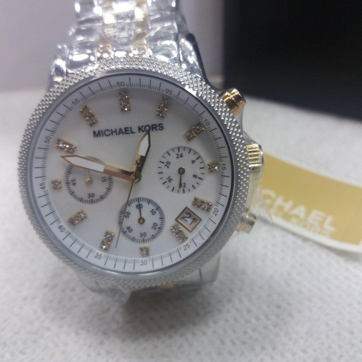 db56f254be8 relógio michael kors mk5057 prata com dourado original. Carregando zoom.
