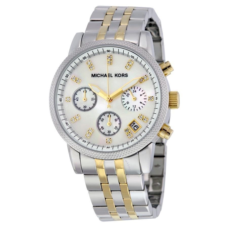 relógio michael kors mk5057 prata dourado original caixa. Carregando zoom. 0f6f354ef4