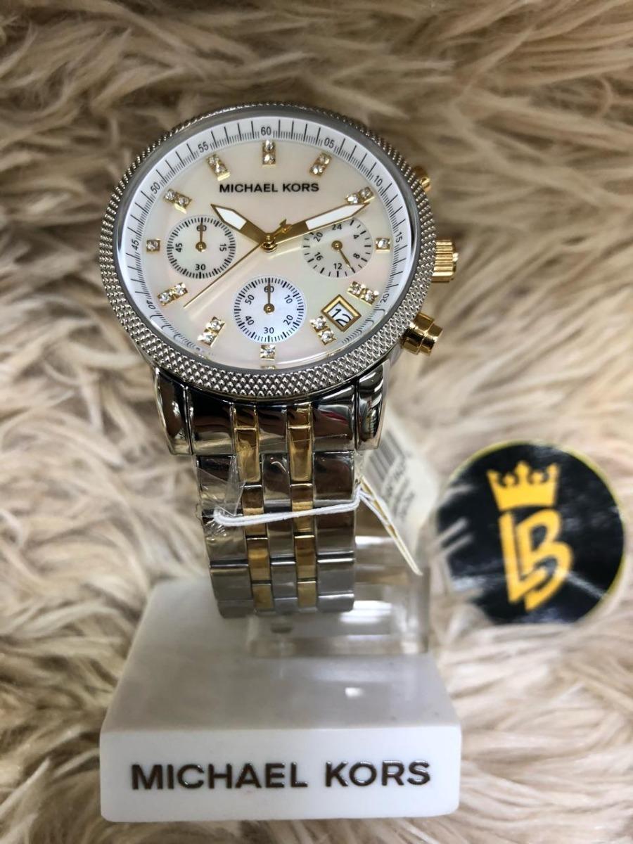 relógio michael kors mk5057 prata dourado original garantia. Carregando  zoom. c00b83d8d4