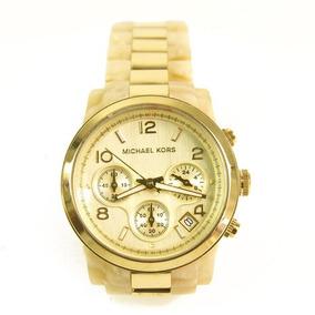 8d5ca0951 Relógio Michael Kors Mk5139 Runway Orig Chron Anal Gold