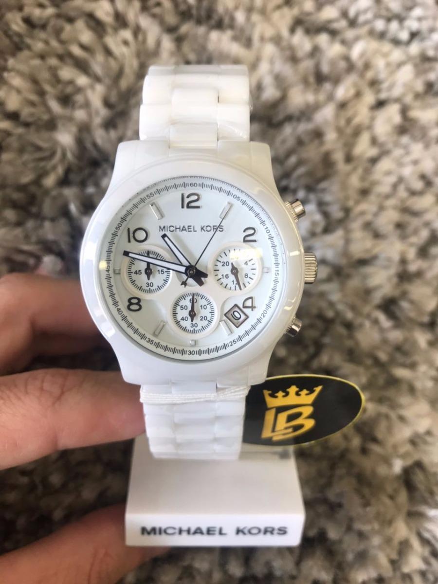 7b79e6b78 relógio michael kors mk5161 branco, cerâmica, 100% original. Carregando  zoom.