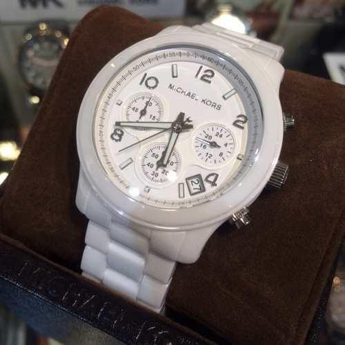 1cfe06c98 Relógio Michael Kors Mk5161 Cerâmica Branco Completo 12x - R$ 649,90 ...