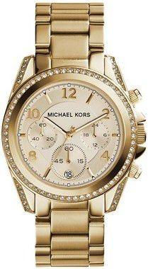 relógio michael kors mk5166 golden blair glitz