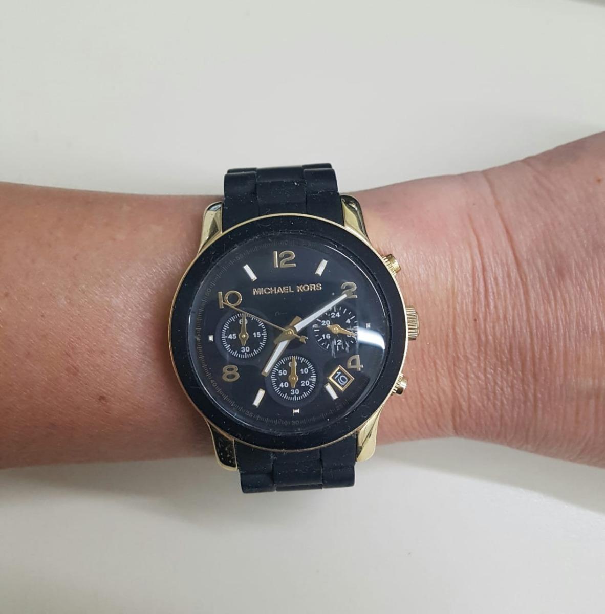 645f01ed4c6 relógio michael kors mk5191 original preto dourado. Carregando zoom.