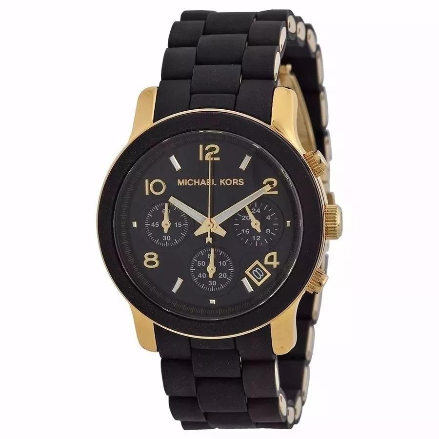 fbc9b80f405 relógio michael kors mk5191 original preto dourado top. Carregando zoom.